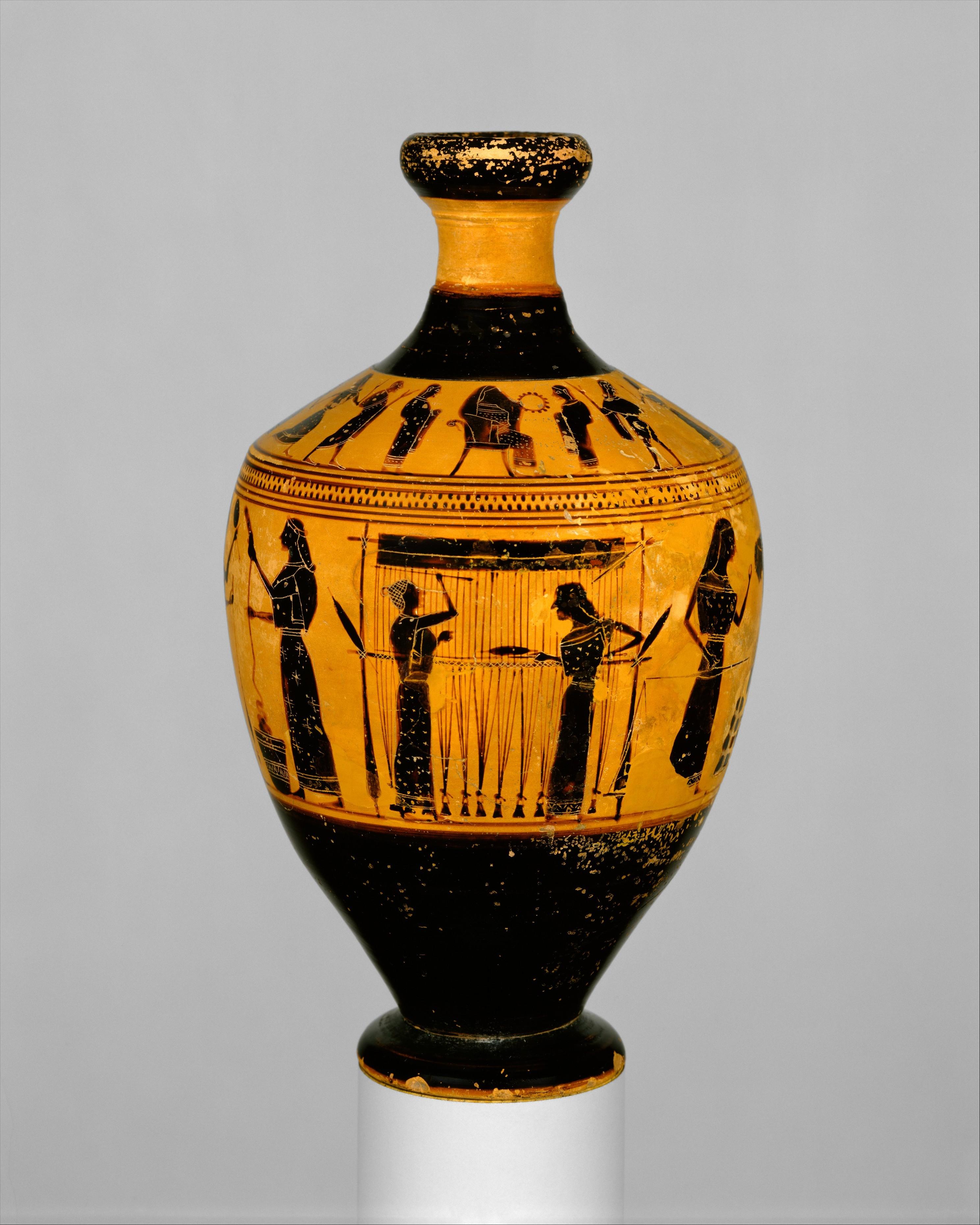 Amasis lekythos MET |www.artextiles.org
