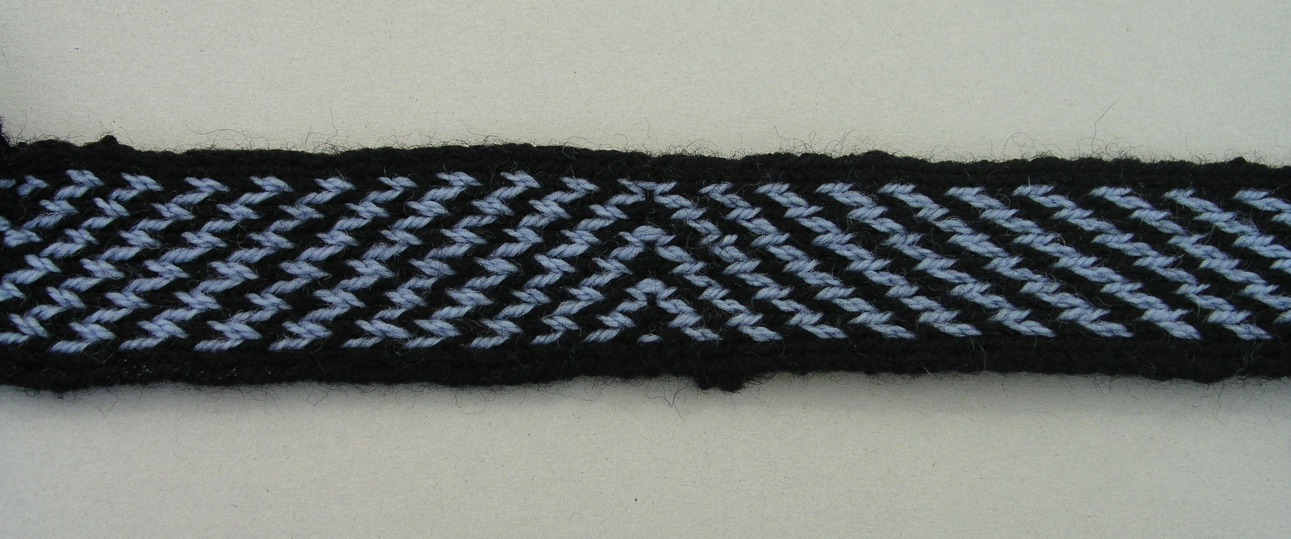 Tablet weaving reconstruction of a geometric pattern. Photo S. Spantidaki.