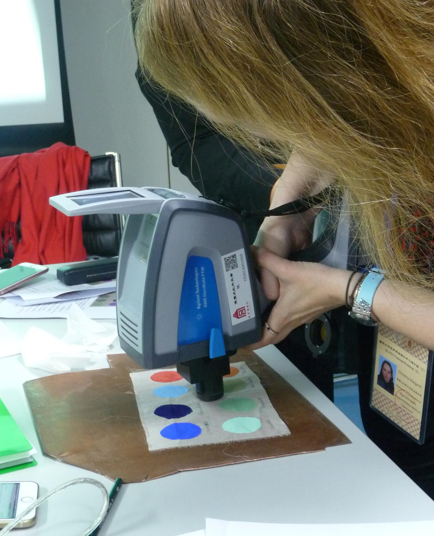 Fourier transform infrared microspectroscopy (FTIR). Photo C. Margariti.