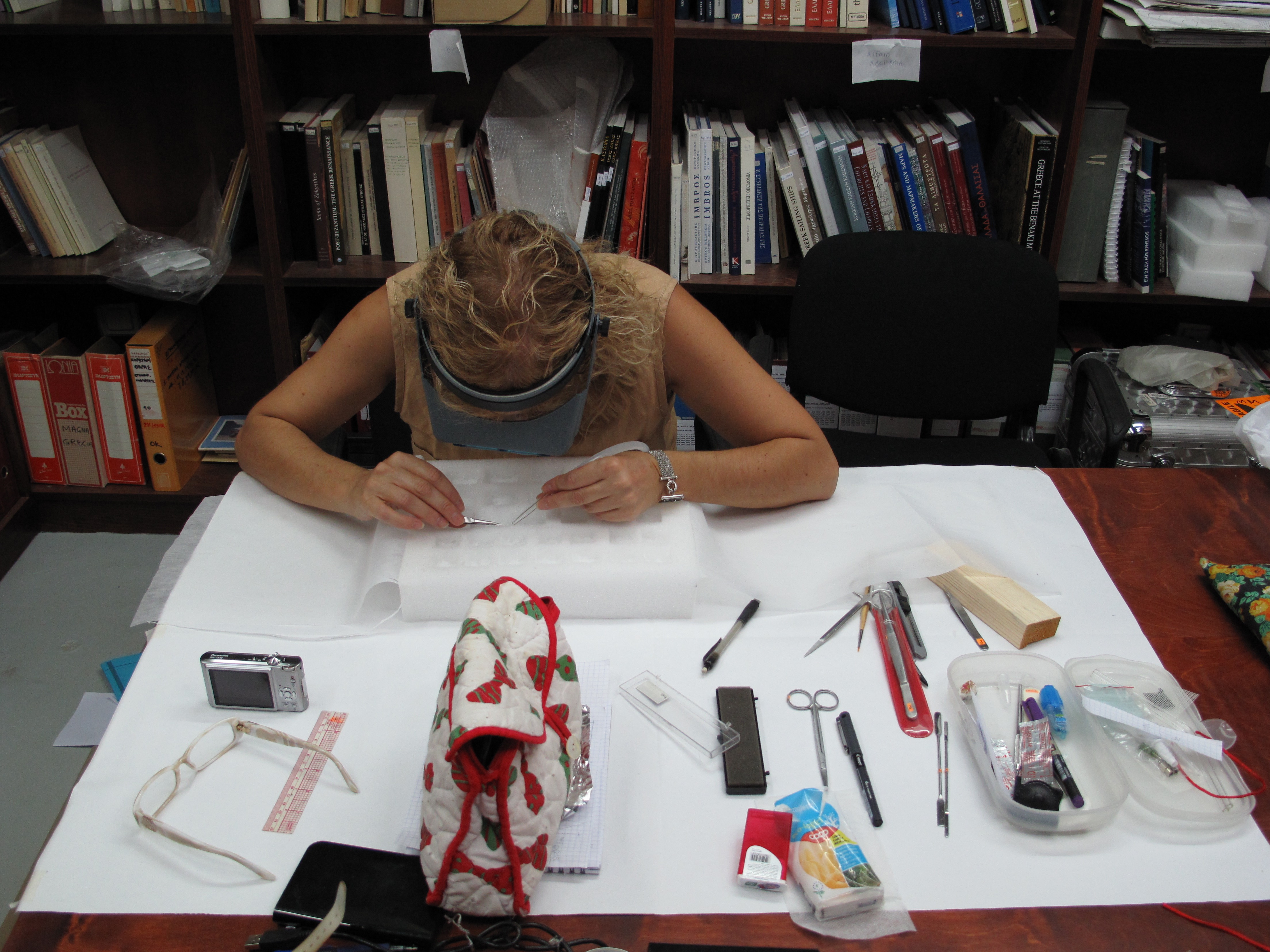 Preventive conservation and storage of archaeological textiles. Photo S. Spantidaki.