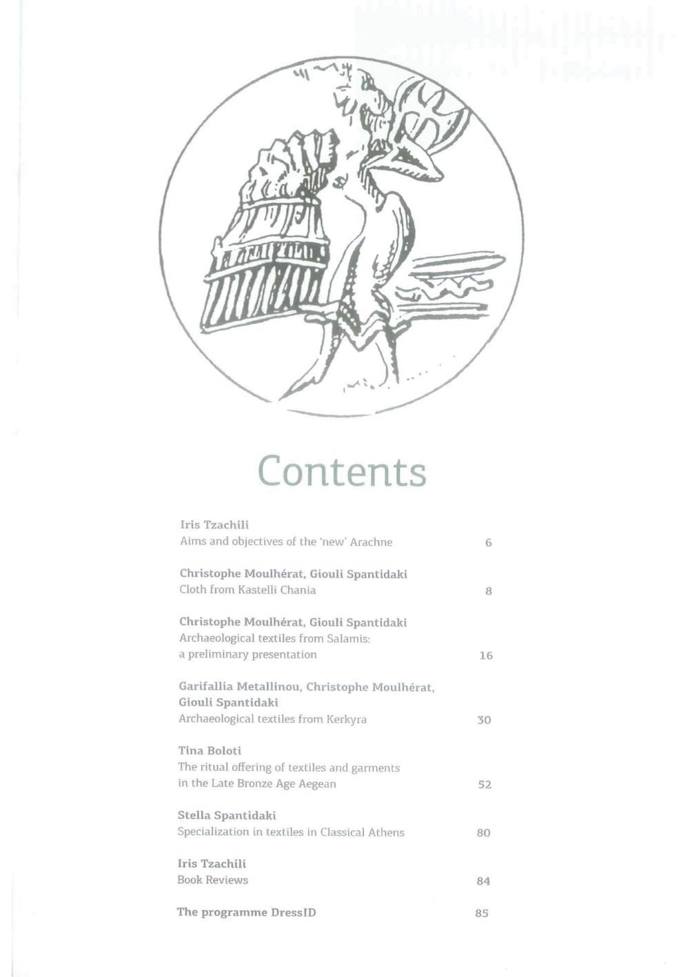 Arachne volume 3 english contents.