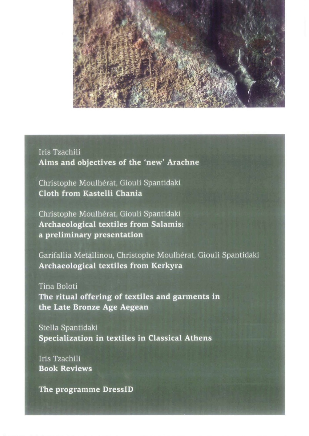 Arachne Volume 3 english back cover.