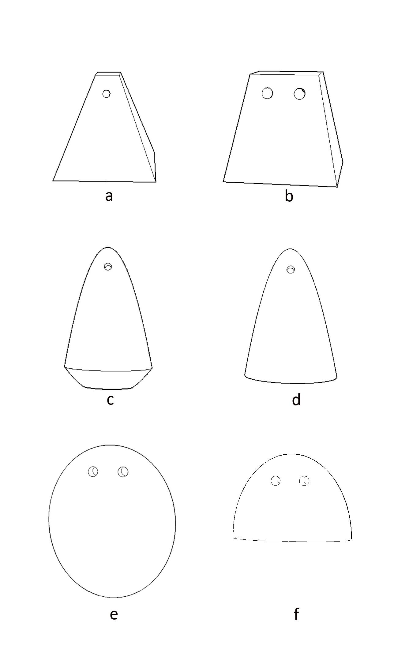 Σχήματα αγνύθων.
