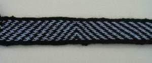 Tablet weaving reconstruction of a geometric pattern. Photo S. Spantidaki.