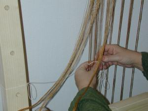 Setting up the loom. Photo S. Spantidaki.
