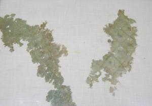 Όψη του κεντήματος από το Κορωπί, 5ος αι. π.Χ., Μουσείο Victoria & Albert, Λονδίνο. Φωτογραφία C. Moulhérat.