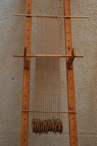 reconstruction, warp-weighted loom, experimental archaeology, Akrotiri  |www.artextiles.org