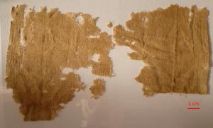 Ύφασμα ΜΝΜ 637 από το Ακρωτήριο Ζωστήρα, Αττική, 5ος αι. π.Χ. Λούβρο. Φωτογραφία C. Moulhérat.