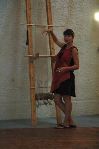 Interactive weaving workshop. Presentation. Photo S. Spantidaki.