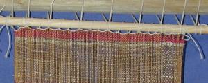 Reconstruction of the 5th c. BC fabric from Kalyvia, Attica. Photo S. Spantidaki.