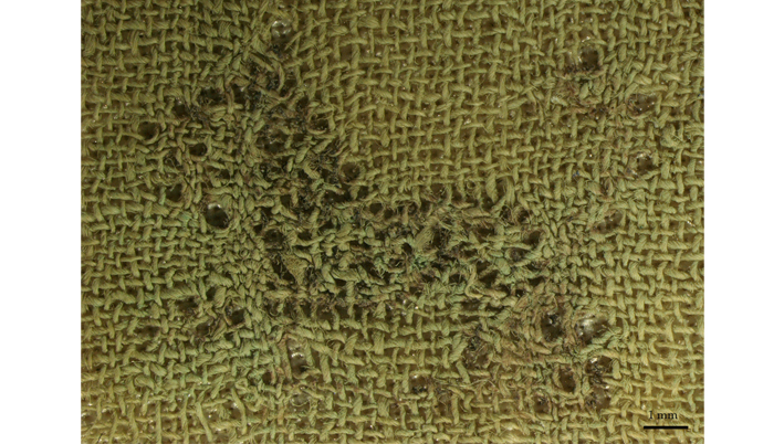 Embroidery from Koropi, 5th c. BC. Victoria & Albert Museum, London. Photo: C. Moulhérat.